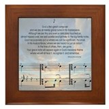 Grace Notes Framed Tile