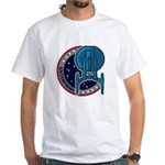 Enterprise Mission Patch (large) White T-Shirt