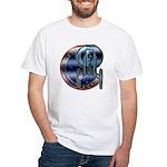 Enterprise Patch (metal look) White T-Shirt