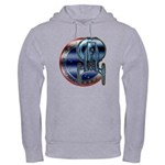 Enterprise Patch (metal look) Hooded Sweatshirt