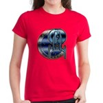 Enterprise Patch (metal look) Women's Dark T-Shirt