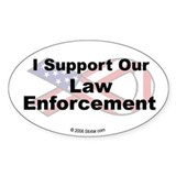I Support Our Law Enforcement Oval Decal