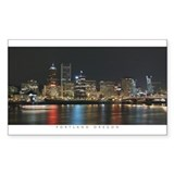 Portland Oregon at Night Decal