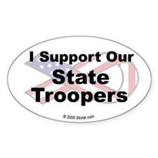 I Support Our State Troopers Oval Decal