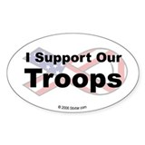 I Support Our Troops Oval  Aufkleber