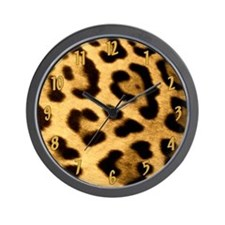 Jaguar Print Wall Clock