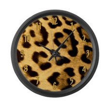 Jaguar Print Large Wall Clock