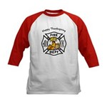Thanksgiving Firefighter Kids Baseball Jersey