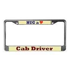 Hug a Cab Driver License Plate Frame