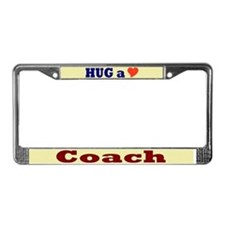 Hug a Coach License Plate Frame