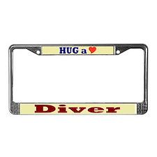 Hug a Diver License Plate Frame