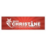 Christine O'Donnell Witch Sticker (Bumper 10 pk)