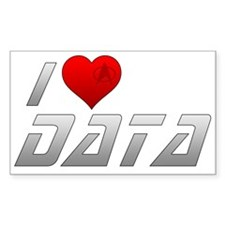 I Heart Data Decal