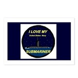 I love My Submariner Postcards (Package of 8)