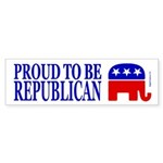 Proud to be Republican Bumper Sticker