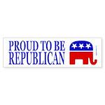 Proud to be Republican Bumper Sticker