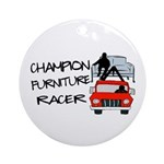 Champion Furniture Racer Ornament (Round)