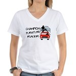 Champion Furniture Racer Women's V-Neck T-Shirt