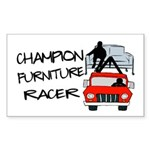 Champion Furniture Racer Sticker (Rectangle)