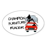 Champion Furniture Racer Sticker (Oval)