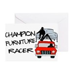 Champion Furniture Racer Greeting Cards (Pk of 10)