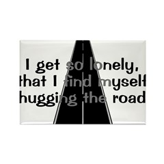 Hugging The Road Rectangle Magnet