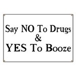 Yes To Booze Banner