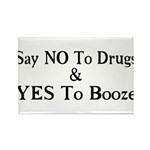 Yes To Booze Rectangle Magnet (10 pack)