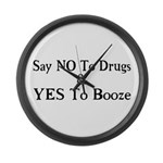 Yes To Booze Large Wall Clock