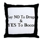 Yes To Booze Throw Pillow