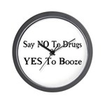 Yes To Booze Wall Clock