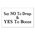 Yes To Booze Sticker (Rectangle 10 pk)