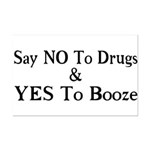 Yes To Booze Mini Poster Print