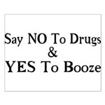 Yes To Booze Small Poster