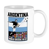 Argentina World Soccer Goal Small Mugs
