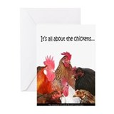 &quot;It's all...Chickens...&quot; Greeting Cards (Package o
