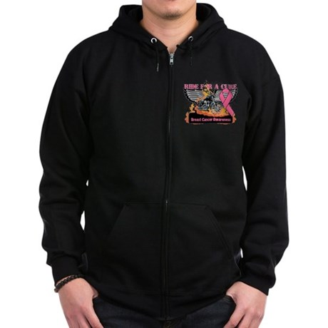 RideForaCure Breast Cancer Zip Hoodie (dark)