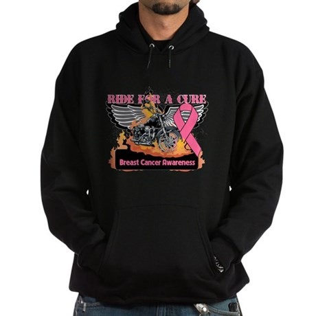 RideForaCure Breast Cancer Hoodie (dark)