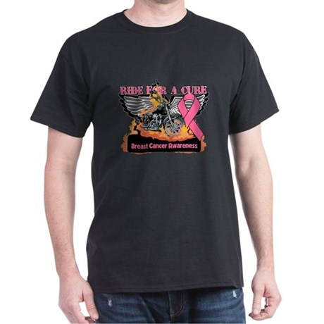 RideForaCure Breast Cancer Dark T-Shirt