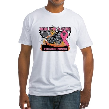 RideForaCure Breast Cancer Fitted T-Shirt