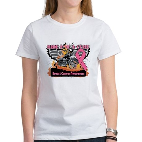 RideForaCure Breast Cancer Women's T-Shirt