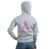 Butterfly Pink Ribbon Zipped Hoody