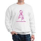 Butterfly Pink Ribbon Sweatshirt