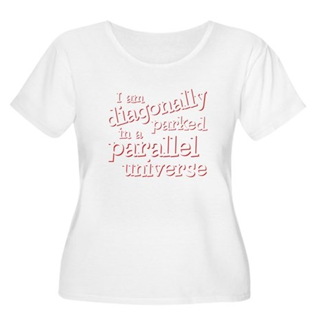 I am diagonally parked Women's Plus Size Scoop Nec