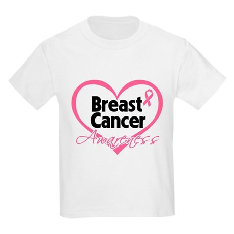 Breast Cancer Awareness Heart Kids Light T-Shirt
