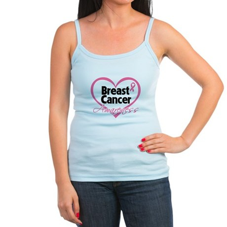 Breast Cancer Awareness Heart Jr. Spaghetti Tank