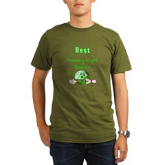 Best Monday Night Bowler Organic Men's T-Shirt (da