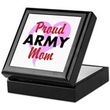 Proud ARMY Mom Keepsake Box