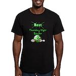 Best Thursday Night Bowler Men's Fitted T-Shirt (d