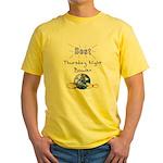 Best Thursday Night Bowler Yellow T-Shirt
